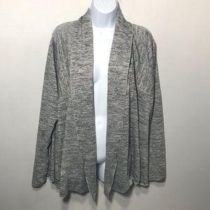 90 Degree By Reflex Sweaters - 90 Degree by Reflex Grey Cardigan Size 1X